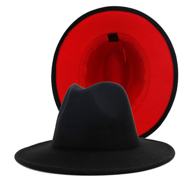 Black/ Red bottom FEDORA