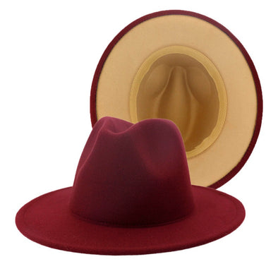 Maroon/ Tan bottom FEDORA