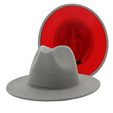 Light gray + red bottom FEDORA