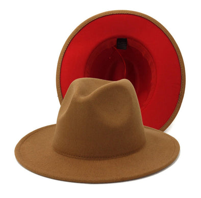 Brown/Red FEDORA