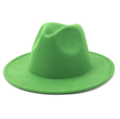 Solid Grass Green FEDORA
