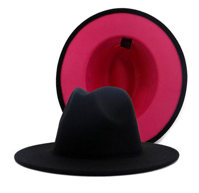 Black + pink bottom FEDORA