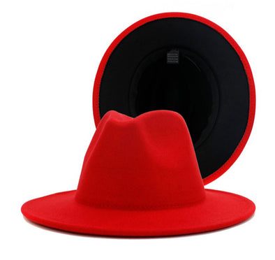 Red + black bottom FEDORA