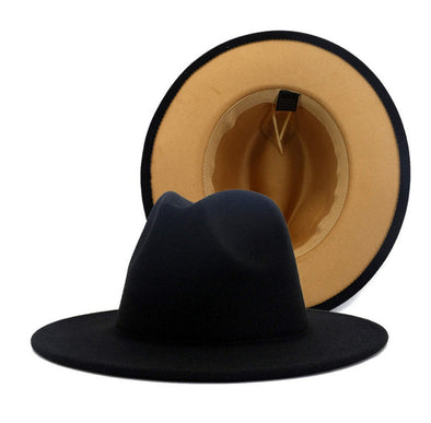 Black + Tan bottom FEDORA