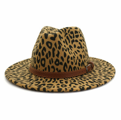 Brown Print Fedora
