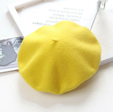 Lemon Yellow Beret