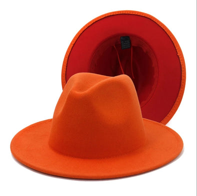 Orange + Red FEDORA