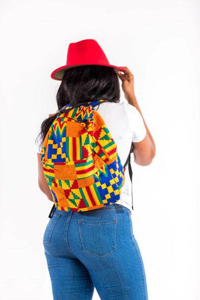 Let's call this beautiful kente Backpack THE YOULA