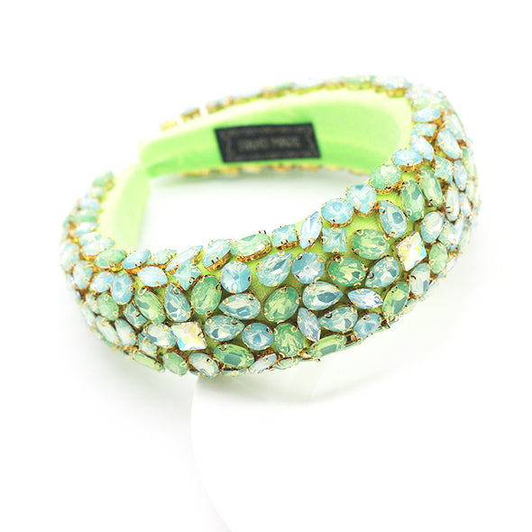Green with love headband