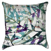 Small Tropical Watercolor Palm Leaves Throw Pillow
