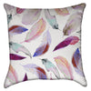 Small Pastel Pink and Magenta Feathers Throw Pillow
