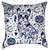 Navy Blue Tattooed French Bulldog Throw Pillow