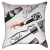 Small Fashion Lipstick and Make-up Throw Pillow