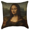 Small Leonardo Da Vinci - The Mona Lisa Throw Pillow
