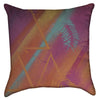 Small Abstract Neon Triangles Graffiti Throw Pillow