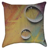 Small Abstract Neon Water Droplets Graffiti Throw Pillow