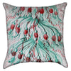 Small Jellyfish Tendrils Turquoise Throw Pillow