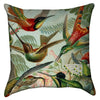 Small Flying Humming Birds Throw Pillow