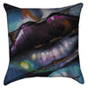 Small Purple Kiss Graffiti Lips Throw Pillow