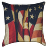 Small Folded Americana - Red White and Blue Throw Pillow