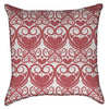 Small Damask Pink Hearts Throw Pillow