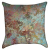 Small Rusty Grunge Green Paint Throw Pillow