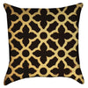 Small Black and Yellow - Geometric Arabic Throw Pillow