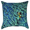 Small Turquoise Clown Fish Dream Throw Pillow