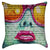 Cool Hot Pink Lips Chic Graffiti Throw Pillow