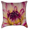 Small Blooming Dahlia Throw Pillow