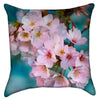 Small Bright Pink Cherry Blossoms Throw Pillow