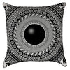 Small Black and White Tribal Mandala Art Throw Pillow