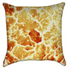 Small Burning Orange Solar Energy Throw Pillow