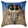 Small Little Spider Bug-Eyed Creep Throw Pillow