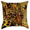Small Grunge Orange Brown Leopard Throw Pillow