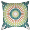 Small Green Orange Mandala Throw Pillow