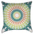 Green Orange Mandala Throw Pillow