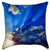 Small Stormy Sunburst Cloudy Throw Pillow