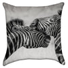 Small Nuzzling Zebras Throw Pillow