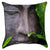 Shy Buddha Throw Pillow