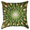 Small Prickly Cactus Mandala Throw Pillow