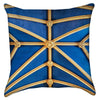 Small Architectural Blue Yellow Throw Pillow