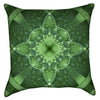 Small Green Clover Mandala Throw Pillow