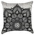 Black and White Floral Lace Throw Pillow