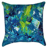 Small Abstract Blue Green Paint Throw Pillow
