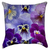 Small Purple Pansy Flower Throw Pillow