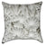 White Tropical Foliage Throw Pillow