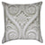 White Spiraling Fleur De Lis Throw Pillow