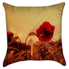Small Single Wheat Field Poppy Throw Pillow