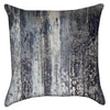 Small Grunge Black Blue and Grey throw Pillow